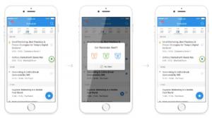 DataFest app reminder alert screen
