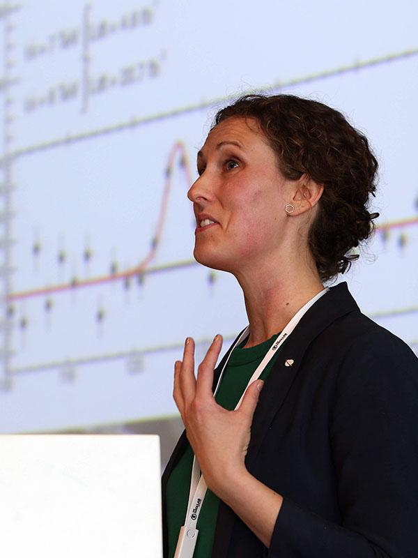 Debbie Bard speaking at Data Tech