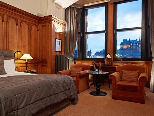 Bedroom at The Scotsman Hotel